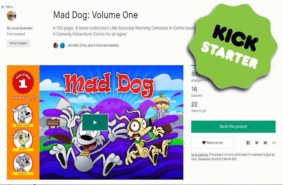 Mad Dog is on Kickstarter!